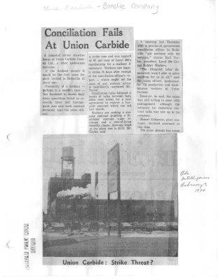 Conciliation fails at Union Carbide (Bakelite)