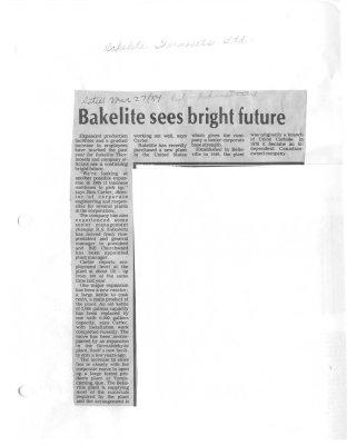 Bakelite sees bright future