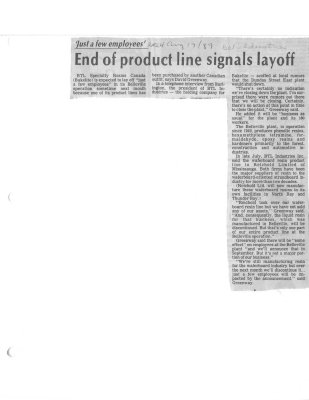 End of product line signals layoff: Bakelite