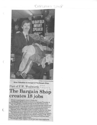 Part of F.W. Woolworth: The Bargain Shop creates 18 jobs