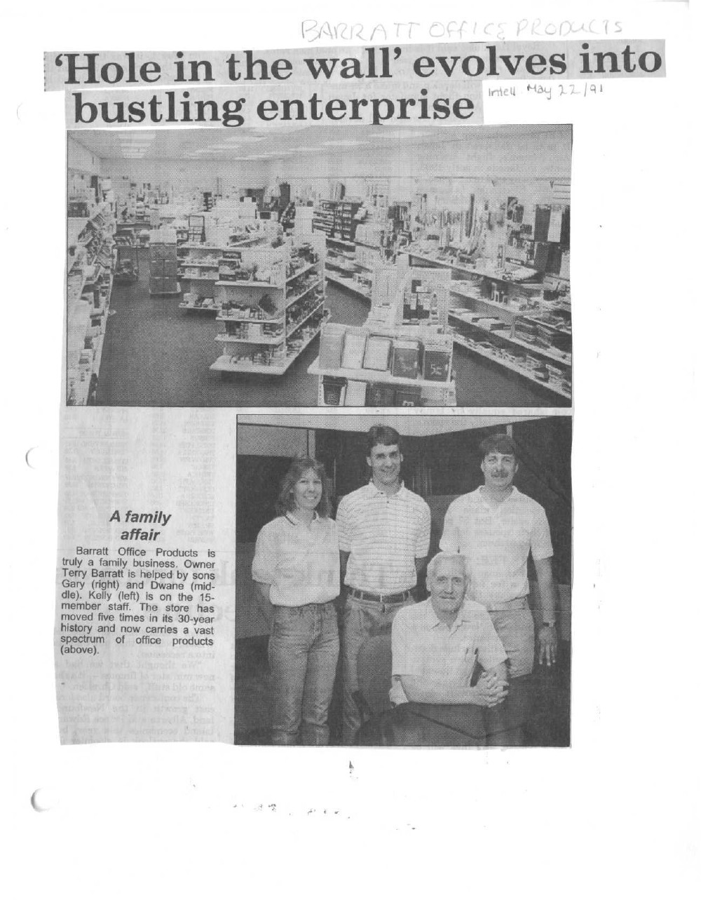 Family ties mean much to business: Barratt Office Products