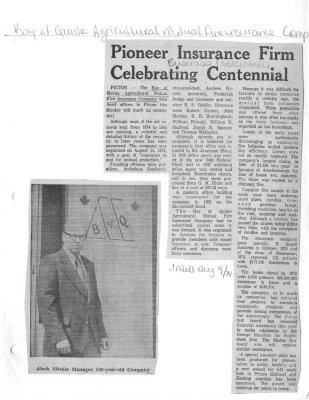 Pioneer Insurance Firm Celebrating Centennial