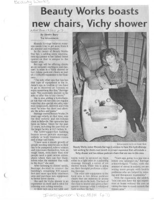 Beauty Works boasts new chairs, Vichy shower