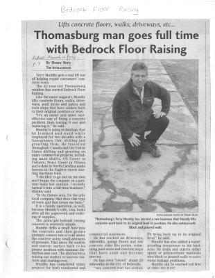 Thomasburg man goes full time with Bedrock Floor Raising