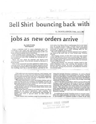 Bell Shirt bouncing back with jobs as new orders arrive