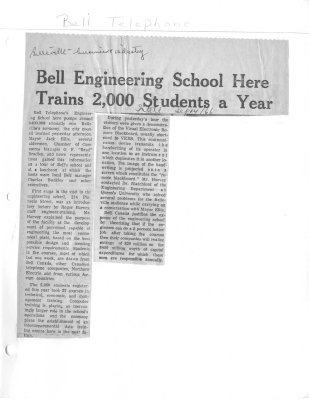 Bell Engineering School here trains 2,000 students a year