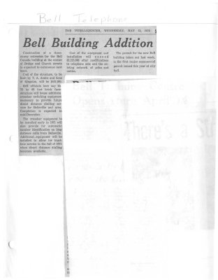 Bell building addition: Bell Telephone