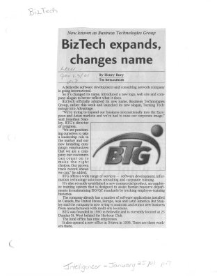 BizTech expands, changes name: now known as Business Technologies Group