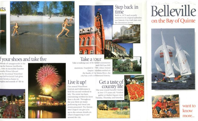 "Belleville Flier 2001 ""Belleville on the Bay of Quinte"""
