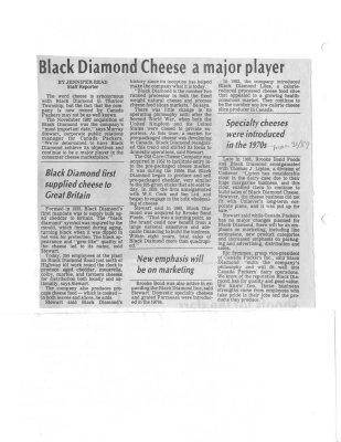 Black Diamond Cheese a major player