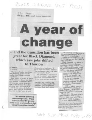 Black Diamond Ault Foods: A year of change