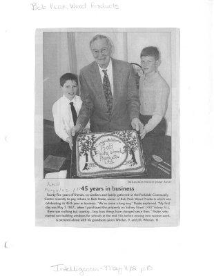 45 years in business: Bob Peak Wood Products Ltd.