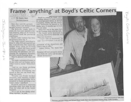 "Frame ""anything"" at Boyd's Celtic Corners"