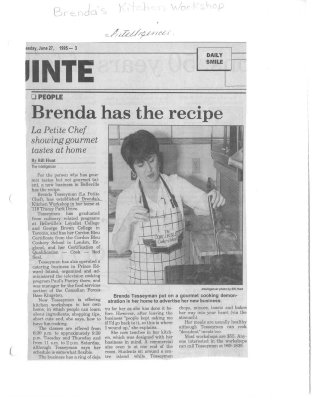 La Petite Chef Brenda has the recipe: Brenda's Kitchen Workshop