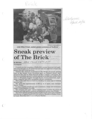 Sneak preview of The Brick