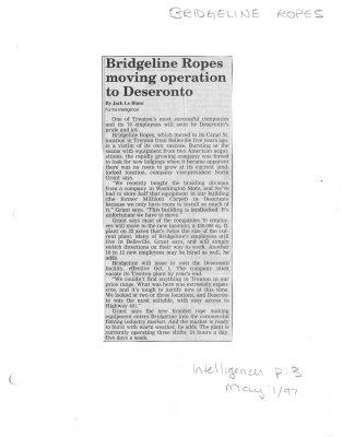 Bridgeline Ropes moving operation to Deseronto