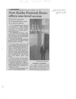 New Burke Funeral Home offers one-level access
