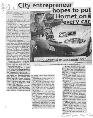 Burley Safety Products Ltd.: City entrepreneur hopes to put Hornet on every car