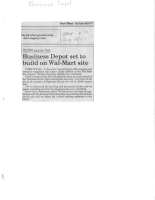 Business Depot set to build on Wal-Mart site