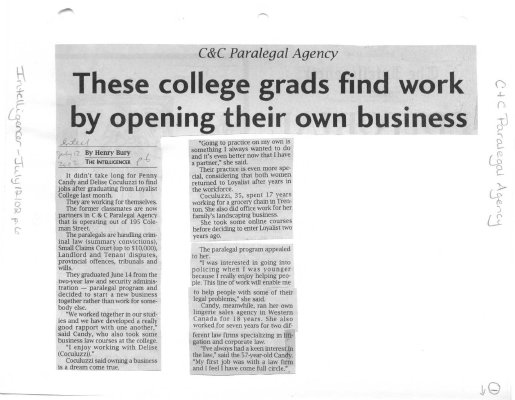 C & C Paralegal Agency: These College grads find work by opening their own business