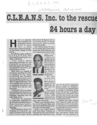 C.L.E.A.N.S. Inc. to the rescue 24 hours a day