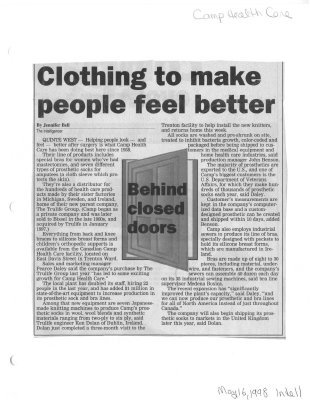 Clothing to make people feel better: Camp Health Care