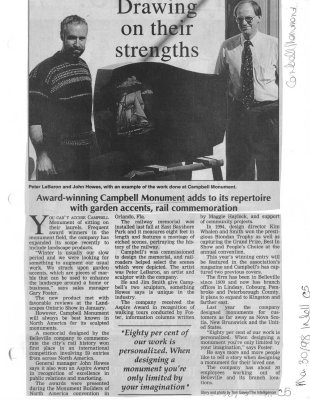 Drawing on their strengths: Campbell Monument Company