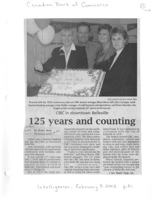 CIBC in downtown Belleville: 125 years and counting