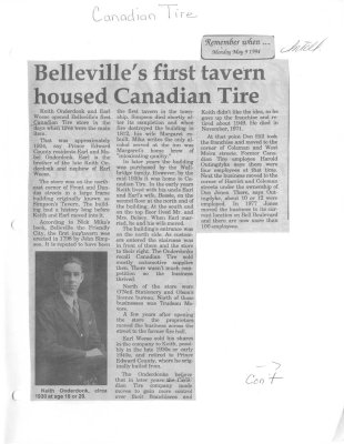 Remember when: Belleville's first tavern housed Canadian Tire