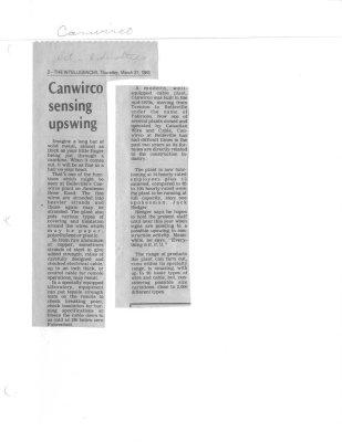 Canwirco sensing upswing
