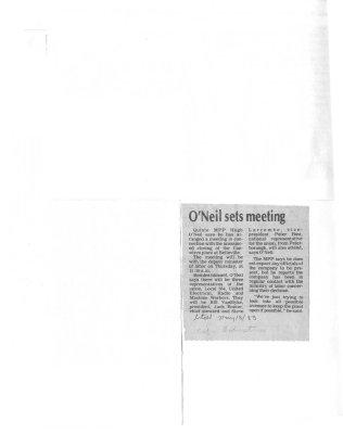 O'Neil sets meeting : Camwirco