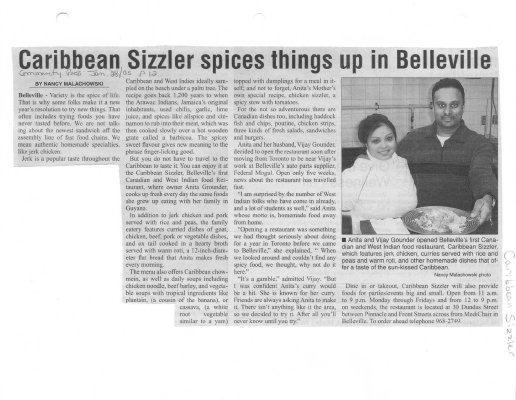 Caribbean Sizzler spices things up in Belleville