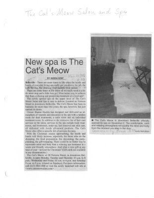 New spa is The Cat's Meow