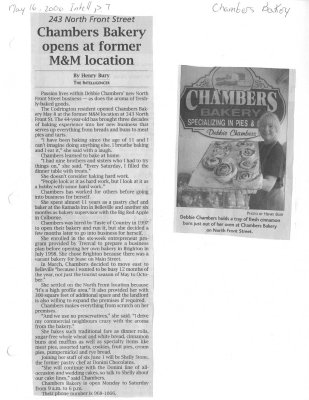 Chambers Bakery opens at former M&M location