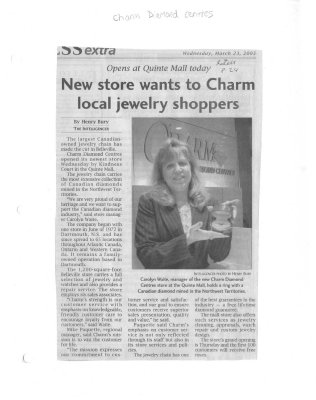 New store wants to Charm local jewelry shoppers : Charm Diamond Centres