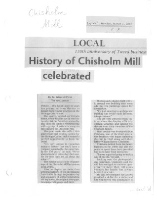 150th anniversay of Tweed business - History of Chisholm Mill celebrated