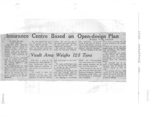 Insurance Centre Based on Open-design Plan : Ciag Insurance Co