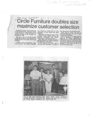 Circle Furniture doubles size maximize customer selection