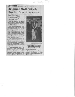 Original Mall outlet Circle TV on the move