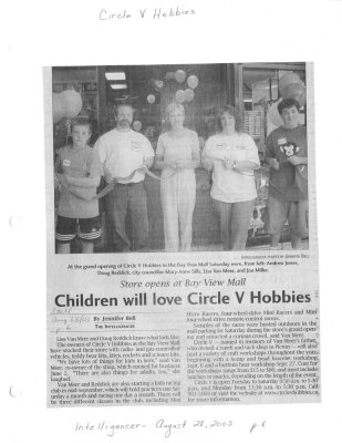 Children will love Circle V Hobbies