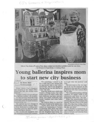 Young ballerina inspires mom to start new city business : CJ's Dreams and Inspirations