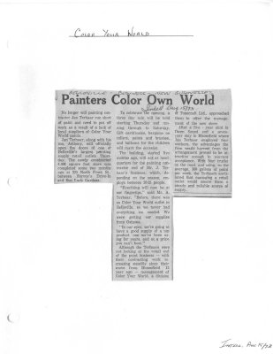 Painters Color Own World : Color Your World