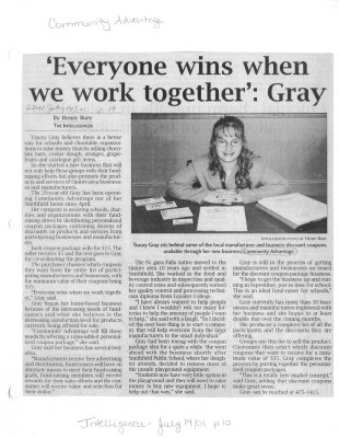 'Everyone wins when we work together': Gray : Community Advantage