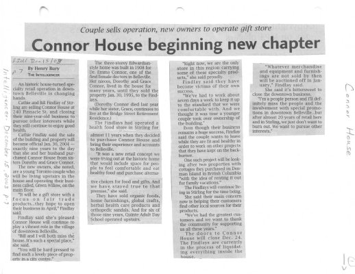 Connor House beginning new chapter