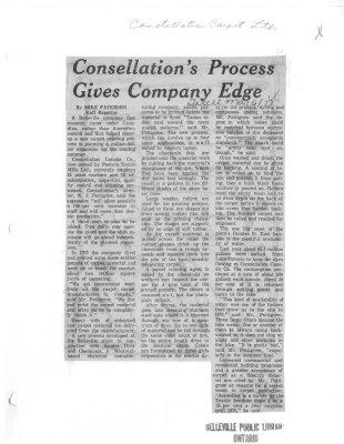 Consellation's Process Gives Company Edge