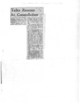 Talks Resume at Constellation : Constellation Carpet Limited