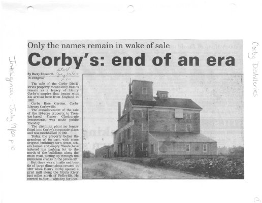 Only the names remain in wake of sale - Corbys: end of an era