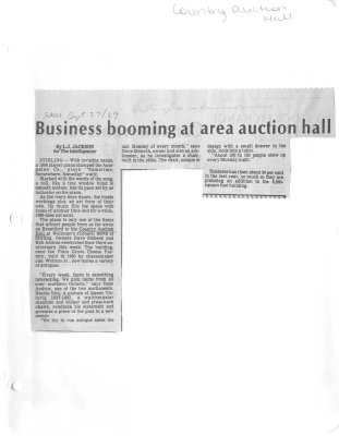 Business booming at area auction hall