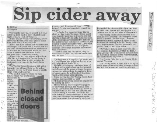 The County Cider Co. - Sip cider away