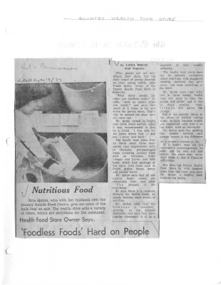 Nutritious Food : County Health Food Store